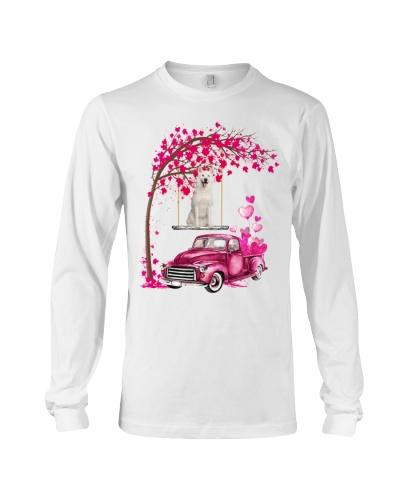 White Siberian Husky - Tree Love Valentine