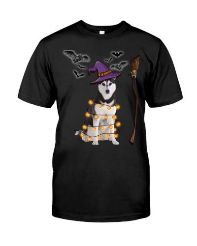 Husky Halloween Witch n' Broom