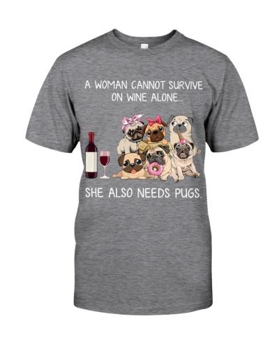 Women Wine and Pugs