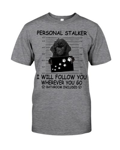 Personal Stalker Black Toy Poodle