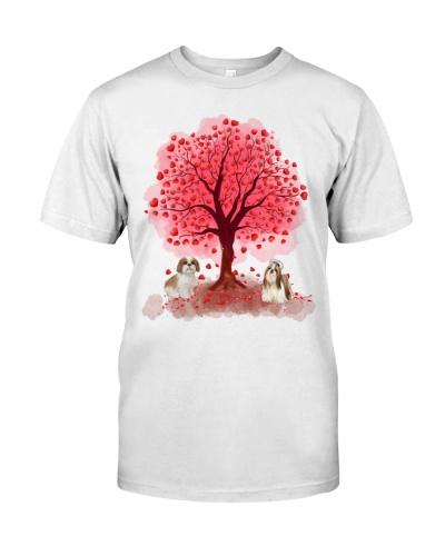 Shih Tzus under Love Tree - Valentines
