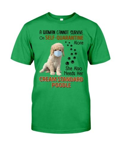 Quarantine With  Cream Standard Poodle