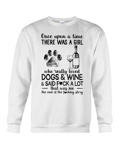 Girl Love Dog and Wine