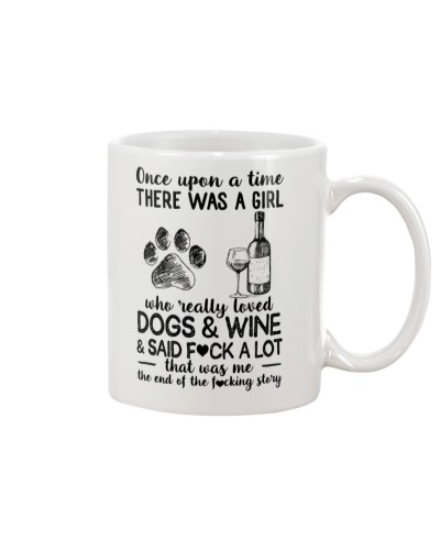Girl Love Dog and Wine