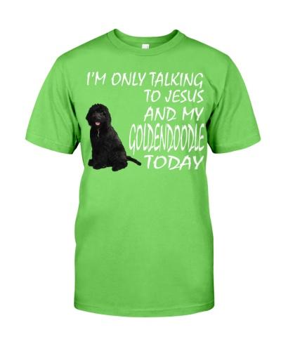 Black Goldendoodle and Jesus