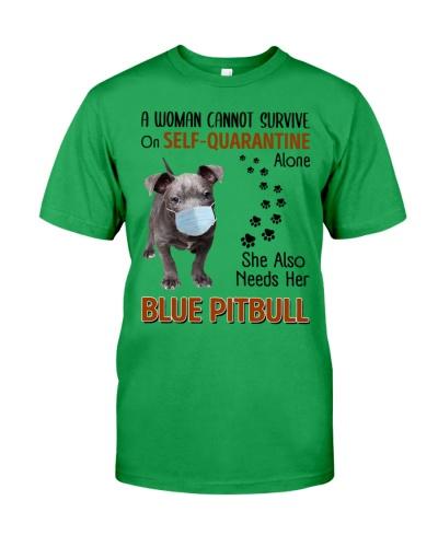 Quarantine With Blue Pitbull