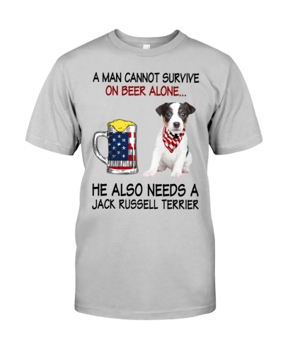 a man cannot survive - Jack Russell Terrier