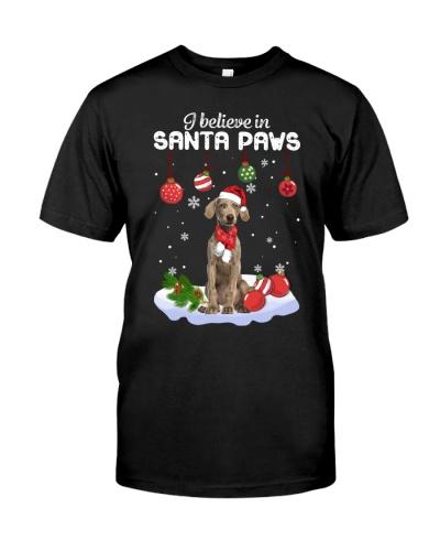 Weimaraner I believe in Santa Paws