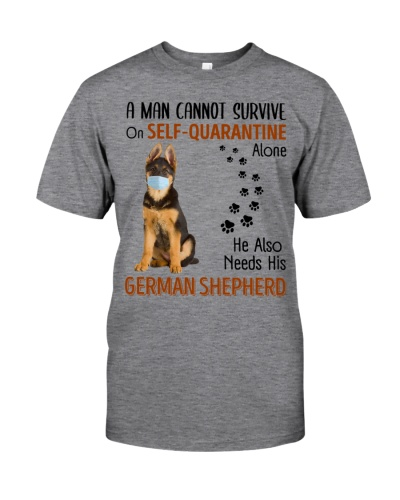A Man Self-Quarantine With German Shepherd
