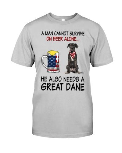 a man cannot survive - Great Dane