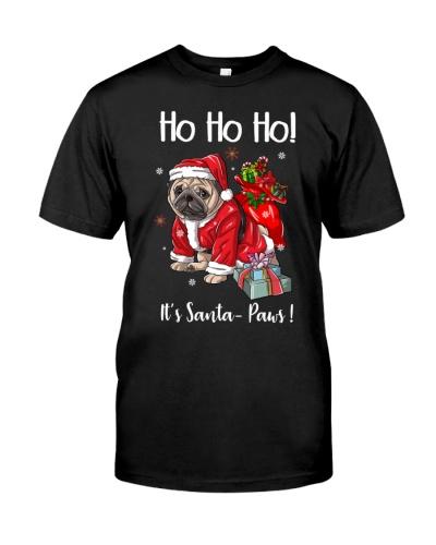 Ho Ho Ho Pug Santa Paws