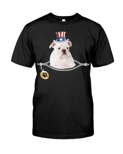 Zip - White English Bulldog