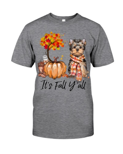 It is Fall - Yorkshire Terrier