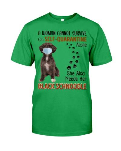 Quarantine With Black Schnoodle