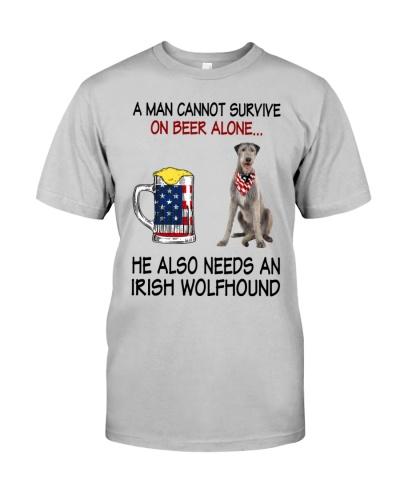 a man cannot survive - Irish Wolfhound