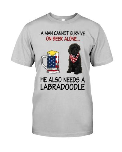 a man cannot survive - Labradoodle