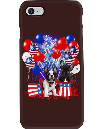 4th July Balloons - French Bulldog