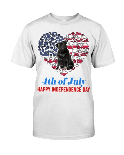 Black Pug Independence Day