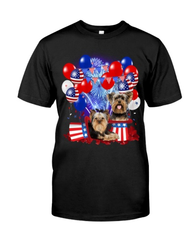 4th July Balloons - Yorkshire Terrier
