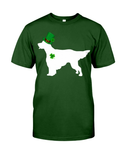 English Setter  Lucky Patrick's Day