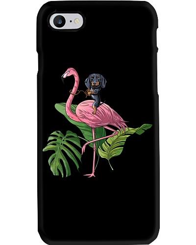 Dachshund and Flamingo