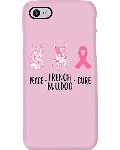 French Bulldog Peace Cure Pink Ribbon