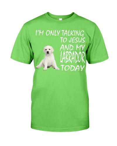 White Labrador and Jesus