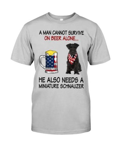 a man cannot survive - Miniature Schnauzer 2