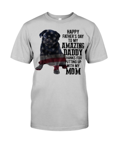 Father Day - Black Pug