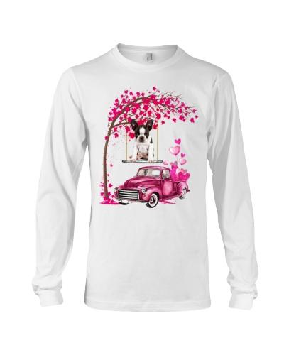 Boston Terrier - Tree Love Valentine