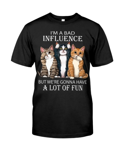 Cats tee - I'm a Bad Influence
