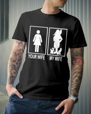 MY WIFE LOVE CATS Classic T-Shirt lifestyle-mens-crewneck-front-6
