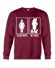 MY WIFE LOVE CATS Crewneck Sweatshirt thumbnail
