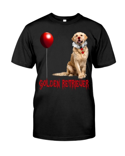 Golden Retriever Halloween Clawn