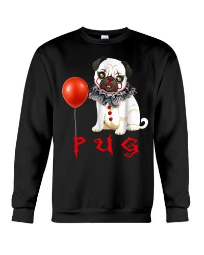 Pug Clown Halloween