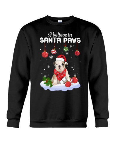Bulldog Santa Paws