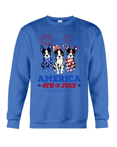 American Independence Day Boston Terrier