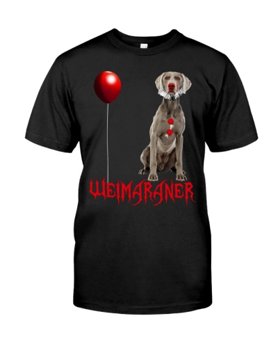 Weimaraner Halloween Clown