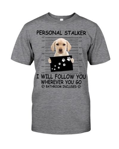 Personal Stalker Yellow Labrador