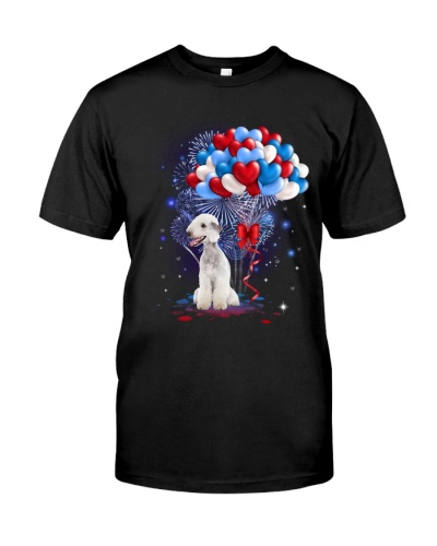 Balloons love 4th - Bedlington Terrier