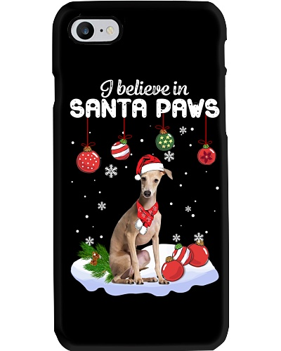 Greyhound I Believe in Santa Paws