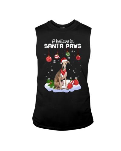 Greyhound I Believe in Santa Paws