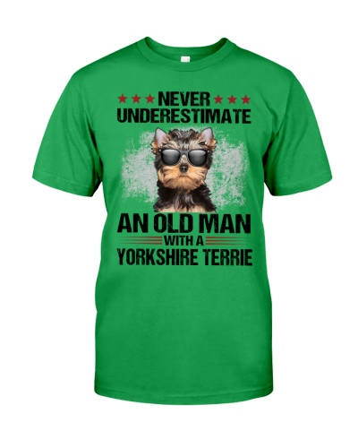 Old Man with Yorkshire Terrier