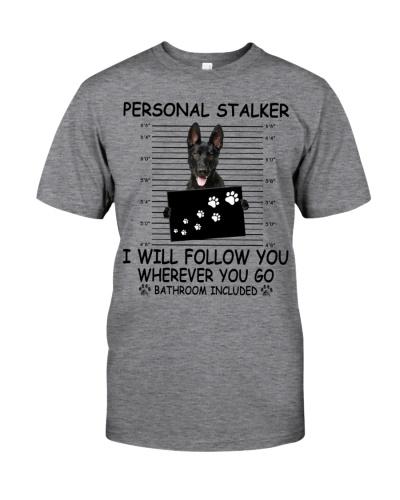 Personal Stalker Black German Shepherd