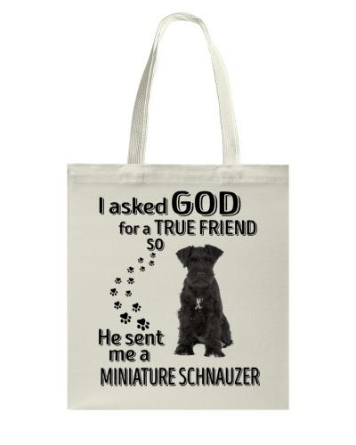 Miniature Schnauzer Black True Friend