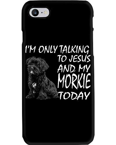 Black Morkie and Jesus