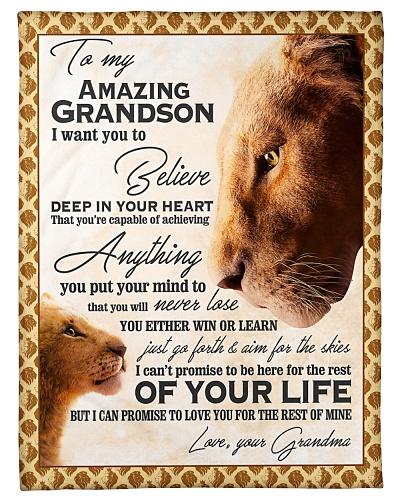 To My Amazing Grandson Blanket