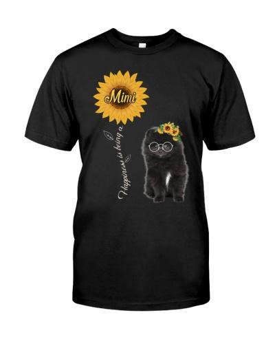 Tiny Black Pomeranian Spitz Mimi Sunshine
