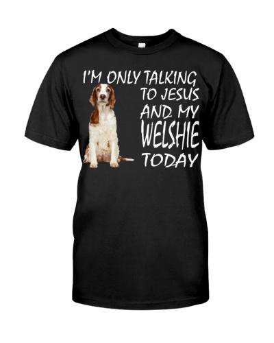 Welsh Springer Spaniel and Jesus