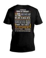 LENGENDS ARE BORN IN FEBRUARY V-Neck T-Shirt back
